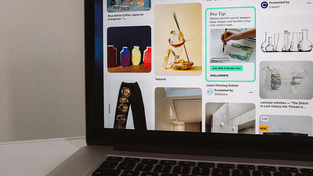 pinterest en desktop
